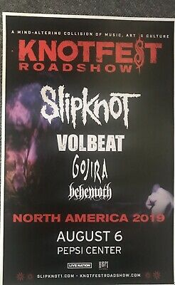 "Slipknot KNOTFEST 11"" x 17"" Denver,CO Pepsi Center Concert Poster Volbeat Gojira"