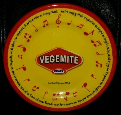 Collectable Limited Edition 2010 Kraft Vegemite Plastic Plate In Great Condition