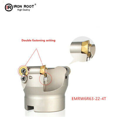 1P EMR6R63-22-4T Indexable Face Milling Cutter For Round RPMT1204 Insert