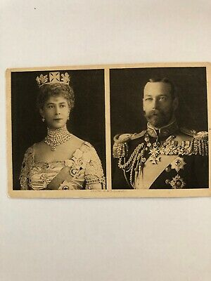 Vintage Princess Mary 1914 Christmas Tin Postcard King George V & Queen Mary WW1