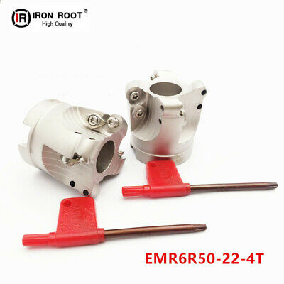 1P EMR6R50-22-4T Indexable Face Milling Cutter For Round RPMT1204 Insert