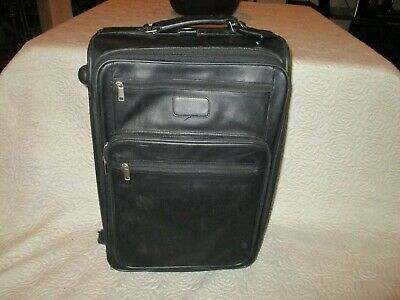 Leather Pull Trolley Rolling Luggage Travel Bag Carry on
