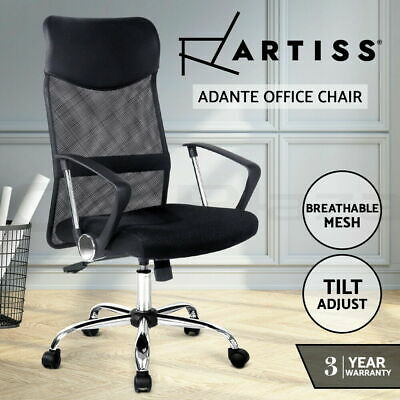 BRAND NEW Artiss Office Chair Executive High Back Mesh Computer Chairs PULeather