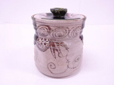 4337974: Japanese Tea Ceremony Oribe Water Jar / Mizusashi