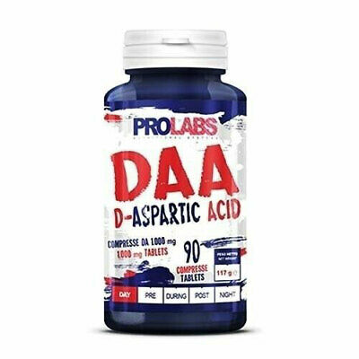 Prolabs DAA Acido Aspartico 90 cpr D-Aspartato in compresse 1000 mg Zinco Rame