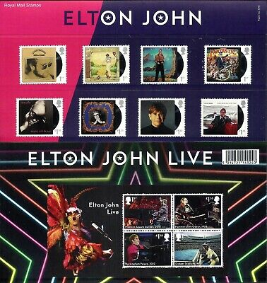 Gb 2019 Mint Elton John Presentation Pack 575 Stamps Miniature Sheet Retail Book