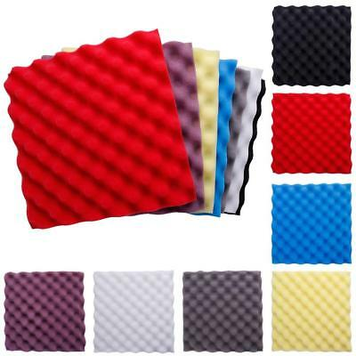 DIY Studio Acoustic Panel Wedge Soundproofing Foam Wall Tiles 30*30*3cm Purple