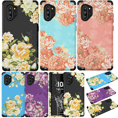 Peony Flower Armor Hard Back Case Cover For Samsung Galaxy Note 10 Plus S10 S9+