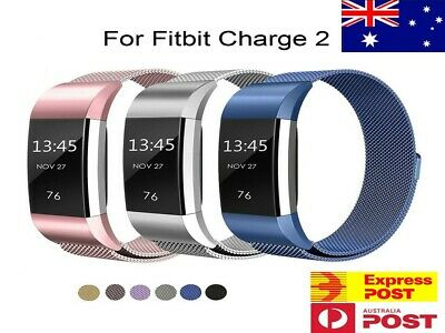For Fitbit Charge 2 Band Metal Stainless Steel Milanese Loop Wristband Strap OZ!