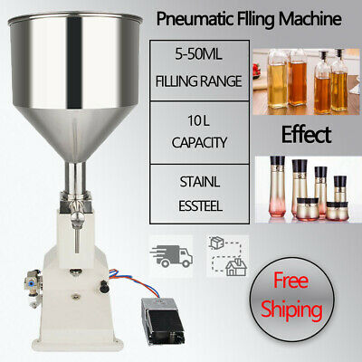 A02 Pneumatic Paste Filling Machine 5~50ml Liquid Filling Machine Flowing Cream