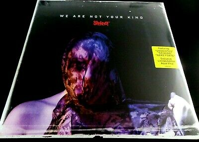 SLIPKNOT - WE ARE NOT YOUR KIND  LIMITED 2 x AQUA BLUE VINYL LP  , NEW WITH DENT