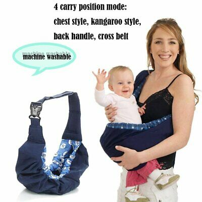 Newborn Baby Infant Toddler Cradle Pouch Ring Sling Carrier Kid Wrap Bag ND