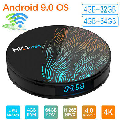 HK1 MAX 4K Smart TV Box HD Android 9.0 RK3328 4G+64G Quad-Core 3D Media Streamer