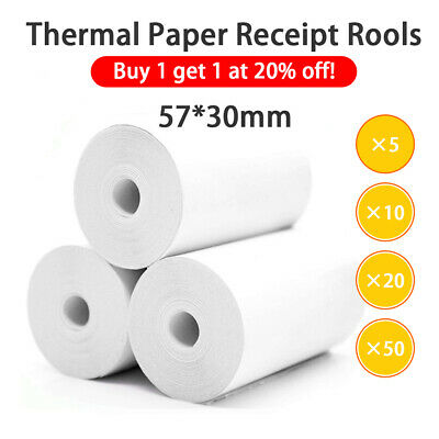 5/10/20/50 57x30mm Eftpos Rolls Cash Register Receipt Thermal Paper HY1