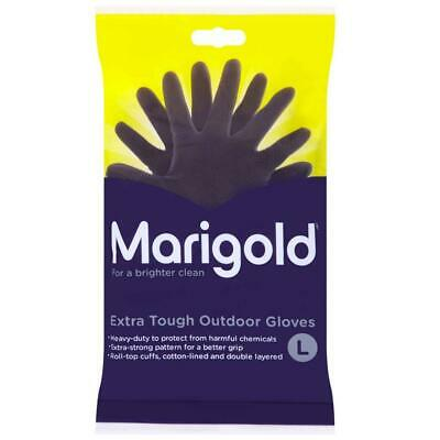 Marigold Outdoor Extra Tough Rubber Gardening Protective Cleaning Gloves Large