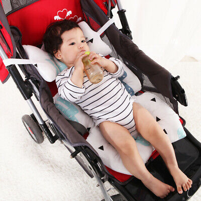 Infant Car Seat Stroller Cushion Pad Liner Mat Head Body Support Pillow