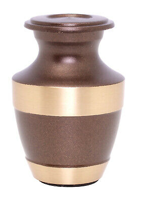Mini Cremation Urn For Ashes Small Funeral Memorial Urn Keepsake Brown Token