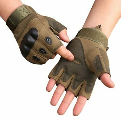 Tactical Hard Knuckle Half finger Gloves Men's Army Military Combat-Free Shipp