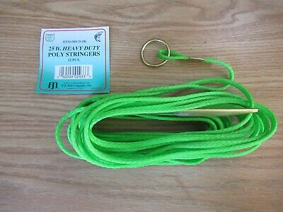 for Smaller Fish #04300-002 FOUR Packs Eagle Claw Red 9 Ft Poly Stringer