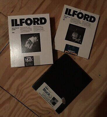 New 8x10 Photographic Photography Paper • 450 Sheets Total Ilford Pearl & Satin.