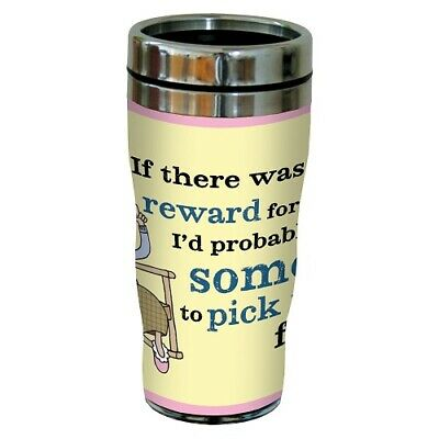 "Tree-Free Greetings Hilarious Aunty Acid ""Reward for Laziness"" 16 Oz"