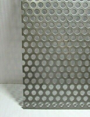 """3/8"""" HOLE 16 GAUGE 304 STAINLESS STEEL PERFORATED SHEET 8"""" x 30"""""""