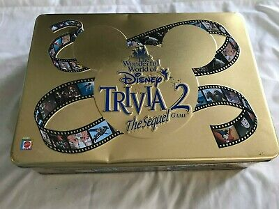 The Wonderful World of Disney Trivia 2 The Sequel Game Collectible Tin Complete