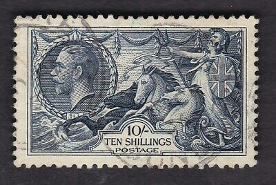 GB KGV 1934 10s Seahorse Re-engraved SG452 FU fine used