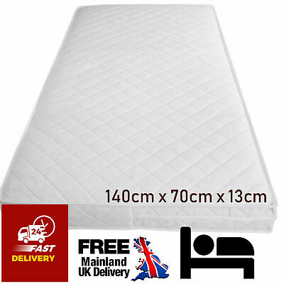 Baby Cot bed Mattress Quilted Waterproof Breathable Extra Thick 140X70