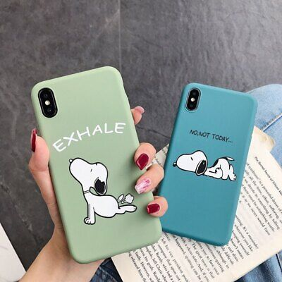 Cute Snoopy Dog Silicone TPU Phone Case Cover For iPhone 6 7 8 XS XR 11 Pro Max