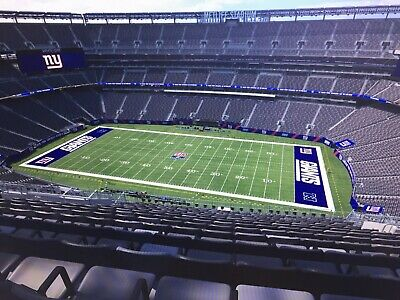 New York Giants Green Bay Packers 12/1 Tickets Aisle MetLife Stadium