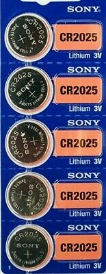 5 pecs CR2025 SONY Lithium Cell Batteries 3V, 160mAh, Original, EXP. 2028