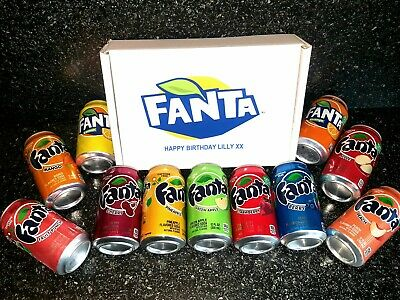 Fanta Birthday Gift Box Selection Pick 6 Various Flavours Personalised Soda Fizz