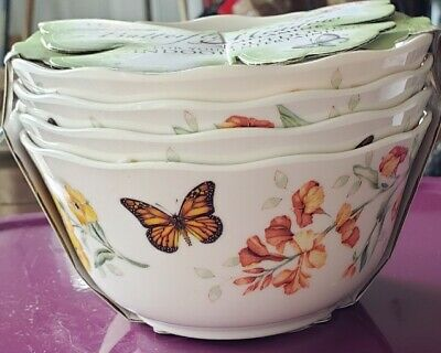 Lenox 856406 Butterfly Meadow Melamine All All Purpose Bowls 16 Ounces White