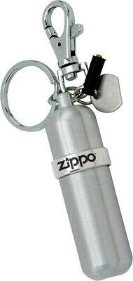 Zippo Fuel Canister Aluminum construction with key ring and spring clip Features