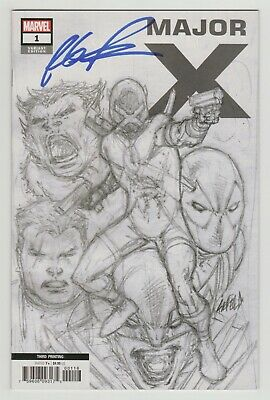 Major X #1 3rd Print 1:25 Sketch Variant SIGNED by Rob Liefeld (Marvel 2019)