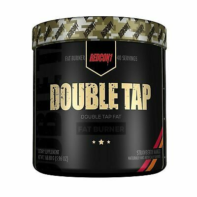 Double Tap by REDCON1 Fat Burner Powder Weight Loss Strawberry Mango