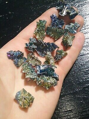 Lot of Sixteen (16) Extra Small Bismuth Crystal Specimens