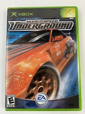 Need for Speed: Underground (Microsoft Xbox, 2003) Complete CIB with Manual EA