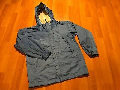Marmot Rain Jacket Girls Size Large L Youth Blue Hooded Lightweight Packable
