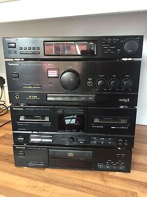 Technics Hi Fi Separates CD Player , Tape Deck, Tuner , SU-X120 Amp Stereo