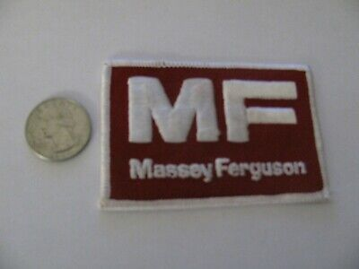 VINTAGE MASSEY FERGUSON TRACTOR EMBROIDERED PATCH NOS