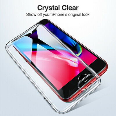 For Apple iPhone 11 Pro Xs Max 8 Shockproof Thin Soft Silicone Clear Case Cover