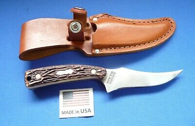 """Schrade USA 152UH Uncle Henry """"Wolverine"""" Fixed Blade Skinning Knife/Sheath."""