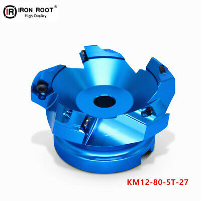 1P KM12-80-5T27 Aluminum Face milling Cutter Indexable mill for SEHT12 Insert