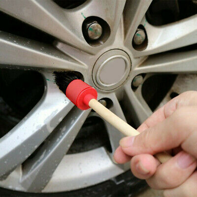 5Pcs Car Cleaning Detailing Valeting Dashboard Crevice Engine Wheel Sash Brush