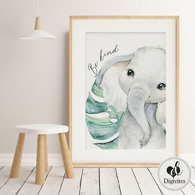 Baby, Nursery Wall Art prints. Safari Jungle Wall art decor. Unisex. Shower Gift