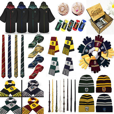 Harry Potter Cosplay Costume Cape Écharpe Gants Baguette Magique Carnaval