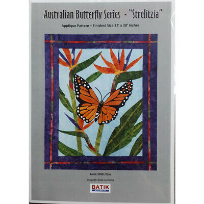Quilting Sewing Quilt Pattern STRELITZIA BUTTERFLY Patchwork Pattern Batiks New