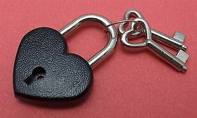 Old Antique Vintage Style Small  Padlock Key Locks - Black (Lot of 4) New